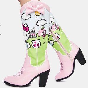Women's Hello Kitty vegan leather boots
